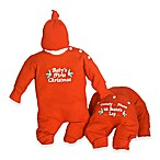 Silly Phillie Creations Size 0-3M 2-Piece  Baby's First Christmas  Holiday Gift Set