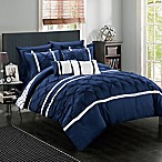 Chic Home Plymouth 10-Piece King Comforter Set in Navy