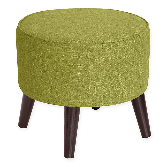 Alternate image 1 for Skyline Furniture Brooker Round Ottoman in Wasabi