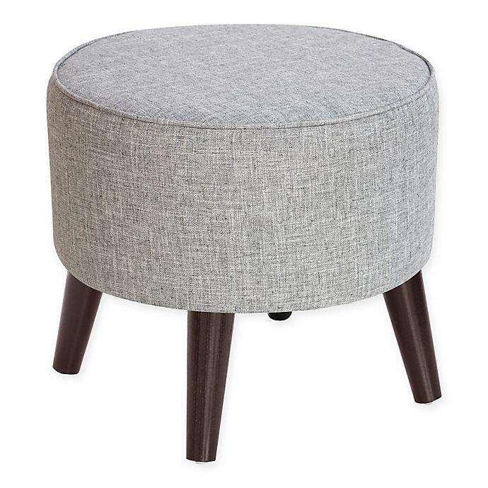 Alternate image 1 for Skyline Furniture Brooker Round Ottoman in Pumice