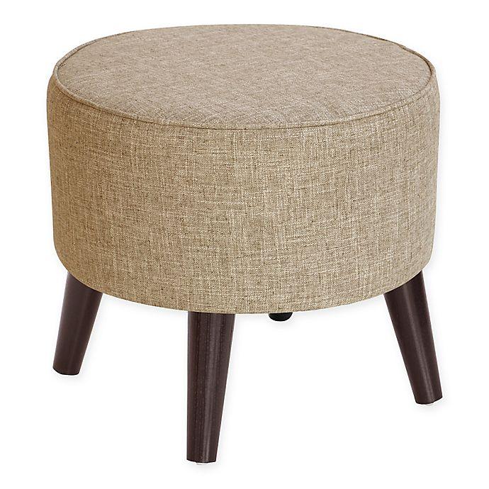 Alternate image 1 for Skyline Furniture Brooker Round Ottoman in Linen