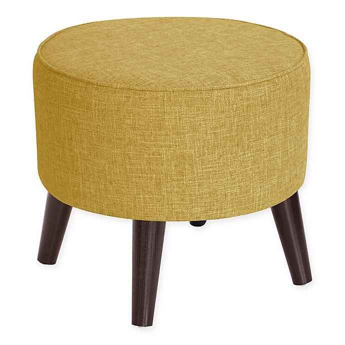 Alternate image 1 for Skyline Furniture Brooker Round Ottoman in Golden