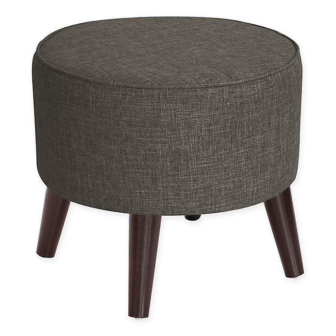 Alternate image 1 for Skyline Furniture Brooker Round Ottoman in Charcoal