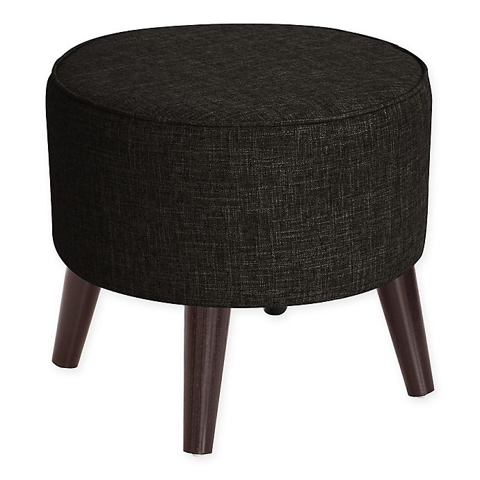 Alternate image 1 for Skyline Furniture Brooker Round Ottoman in Caviar