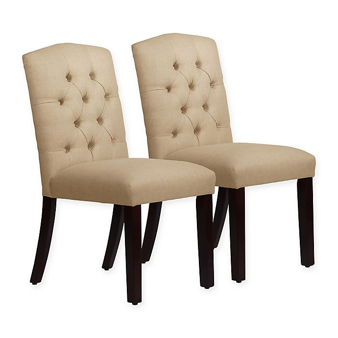 Alternate image 1 for Skyline Furniture Denise Arched Dining Chairs in Linen Sandstone (Set of 2)