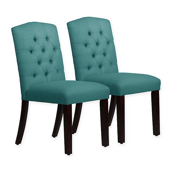 Alternate image 1 for Skyline Furniture Denise Arched Dining Chairs in Linen Laguna (Set of 2)