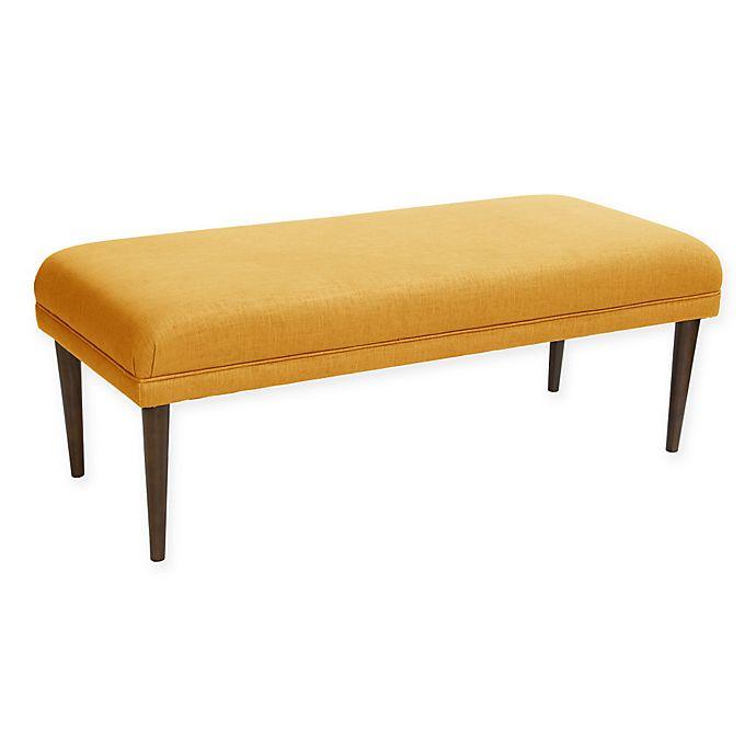 Alternate image 1 for Skyline Furniture Ellsworth Linen Bench in French Yellow