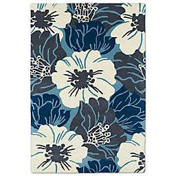 Kaleen Melange Grande Floral Rug in Blue