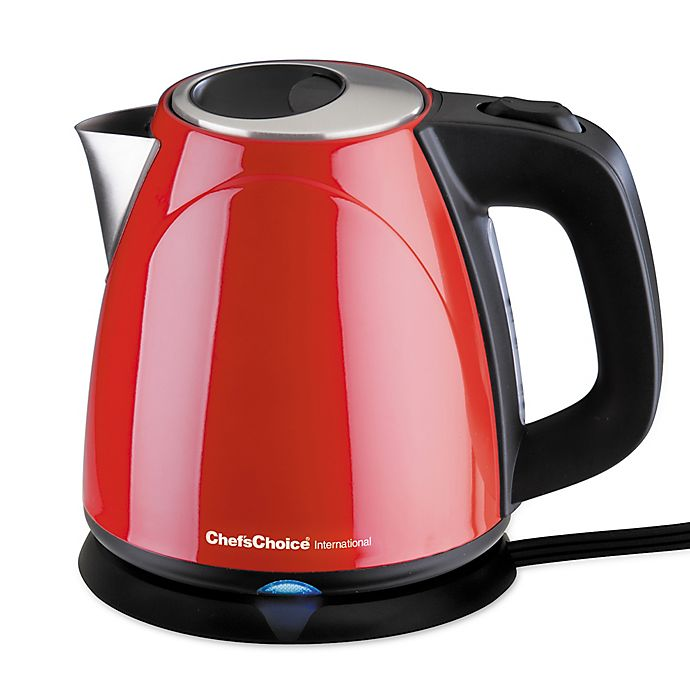 Alternate image 1 for Chef's Choice® International Compact 1 qt. Cordless Electric Kettle in Red