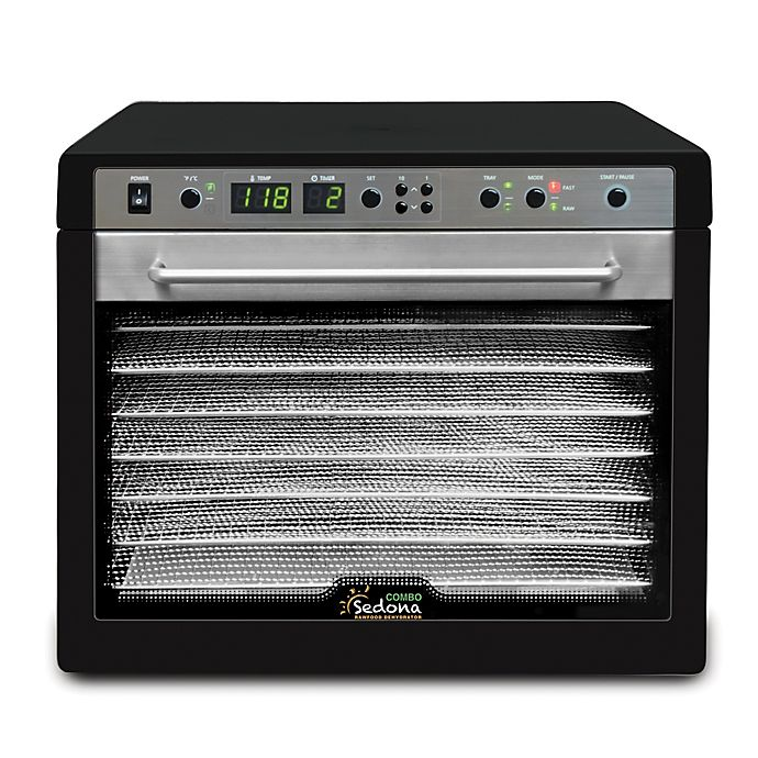 Alternate image 1 for Tribest® Sedona Combo Digital Dehydrator with 9 Stainless Steel Trays in Black