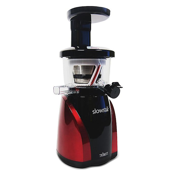Alternate image 1 for Tribest® Slowstar Vertical Cold Press Juicer with Mincing in Black/Red