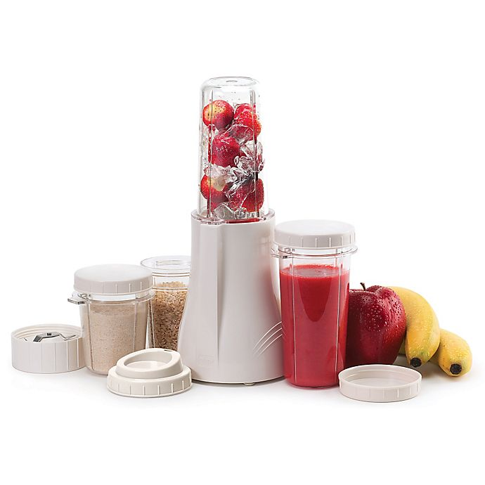Alternate image 1 for Tribest® Compact PB-250-A Personal Blender & Grinding Set in White