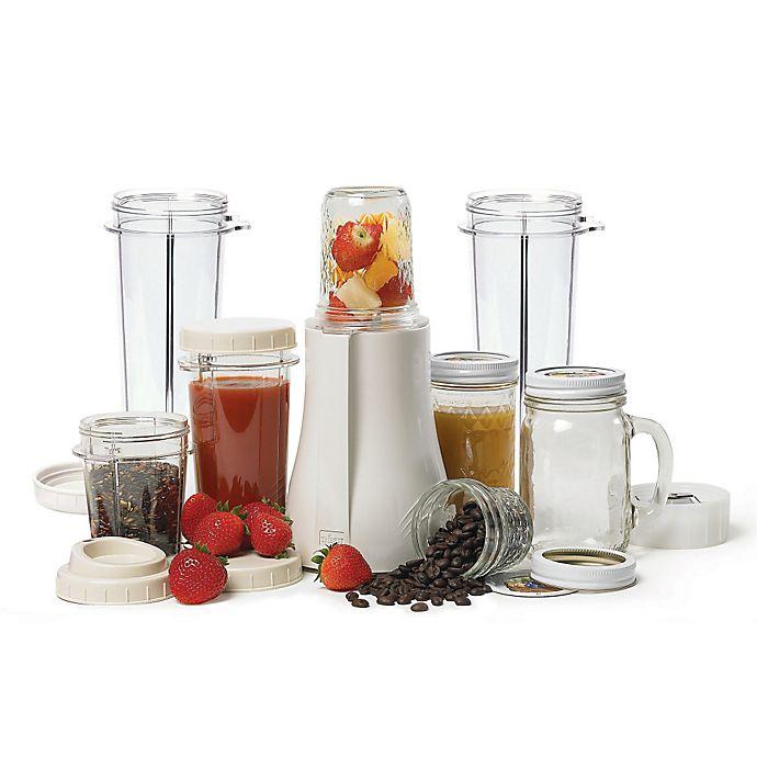 Alternate image 1 for Tribest® PB-350XL Mason Jar Personal Blender in White
