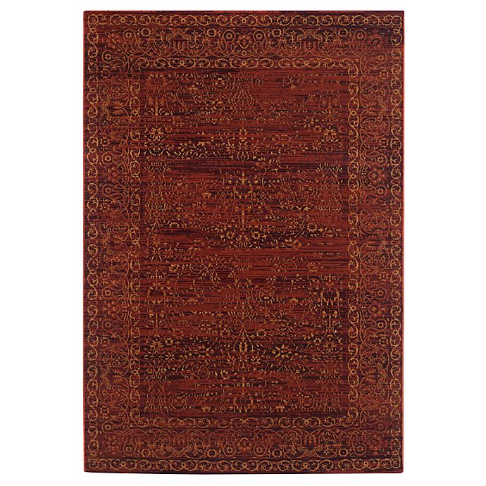 Alternate image 1 for Safavieh Serenity Collection Bianca 5-Foot 1-Inch x 7-Foot 6-Inch Area Rug in Ruby/Gold