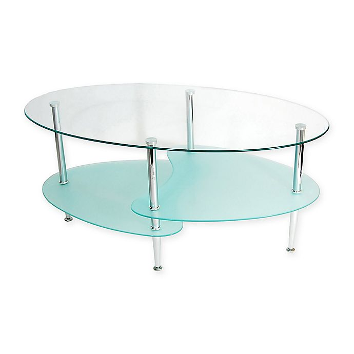 Astonishing Forest Gate Modern Glass Oval Coffee Table Bed Bath Beyond Theyellowbook Wood Chair Design Ideas Theyellowbookinfo