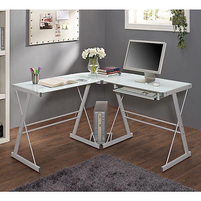 Alternate image 1 for Forest Gate Harbor Modern Corner Computer Desk in White