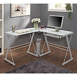 Forest Gate Harbor Modern Corner Computer Desk in White