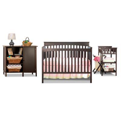 Sorelle Pee Paradise 5 Piece Complete Nursery Set In Espresso Baby