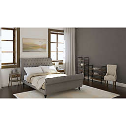 Tufted Sleigh Contemporary Bedroom