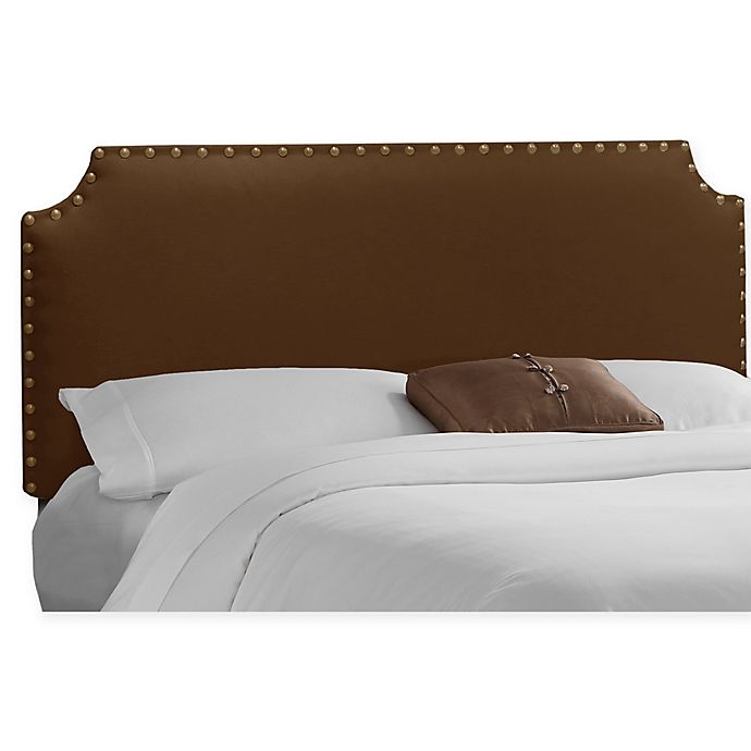 Alternate image 1 for Skyline Furniture Axle Nail Button Full Headboard in Chocolate