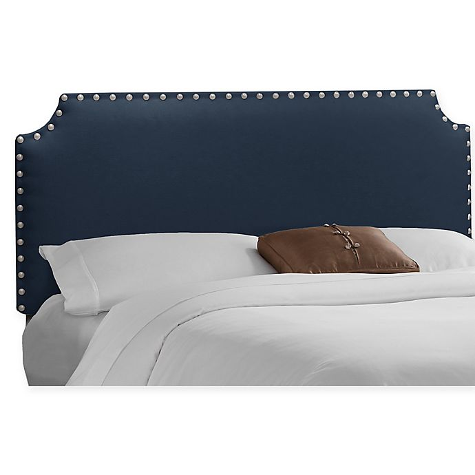 Alternate image 1 for Skyline Furniture Axle Nail Button Full Headboard in Navy