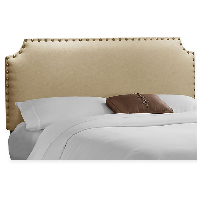 Alternate image 1 for Skyline Furniture Axle Nail Button Twin Headboard in Sandstone