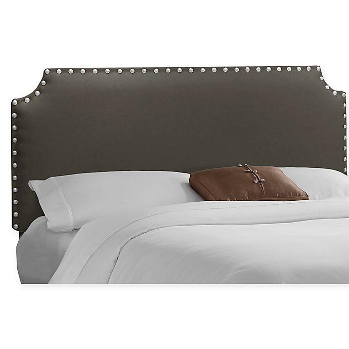 Alternate image 1 for Skyline Furniture Axle Nail Button Full Headboard in Slate