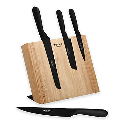 Prime™ by Chicago Cutlery® 5-Piece Black Oxide Magnetic Knife Block Set