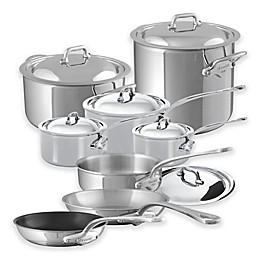 Mauviel 1830® M'cook 14-Piece Stainless Steel Cookware Set