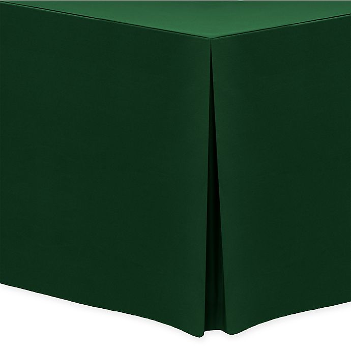 Alternate image 1 for 30-Inch x 72-Inch Oblong Indoor/Outdoor Twill Tablecloth in Hunter