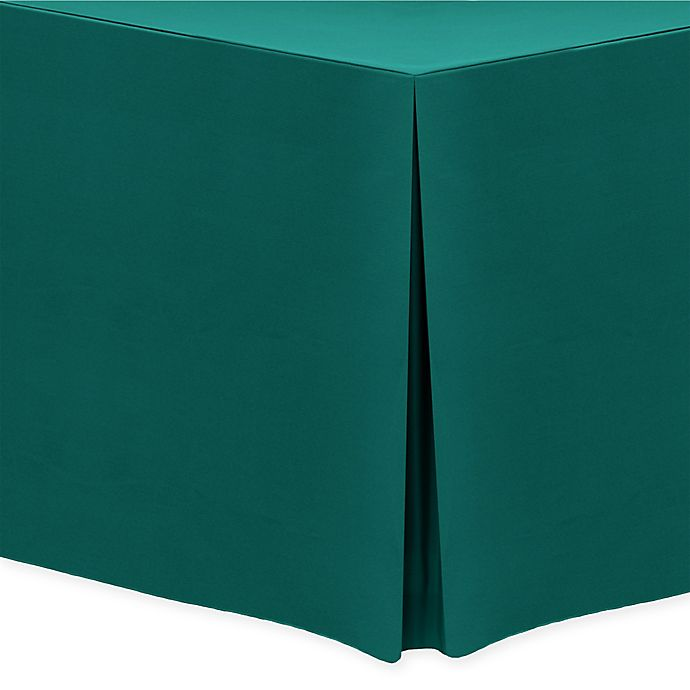 Alternate image 1 for 30-Inch x 72-Inch Oblong Indoor/Outdoor Twill Tablecloth in Teal