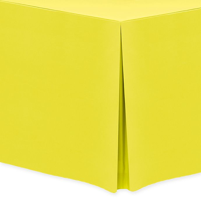Alternate image 1 for 30-Inch x 72-Inch Oblong Indoor/Outdoor Twill Tablecloth in Lemon