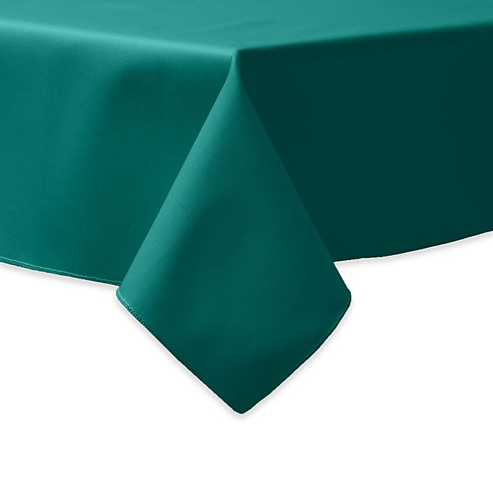 Alternate image 1 for 84-Inch Square Indoor/Outdoor Twill Tablecloth in Teal