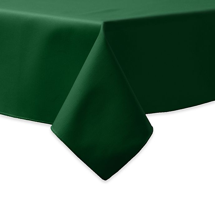 Alternate image 1 for 84-Inch Square Indoor/Outdoor Twill Tablecloth in Hunter