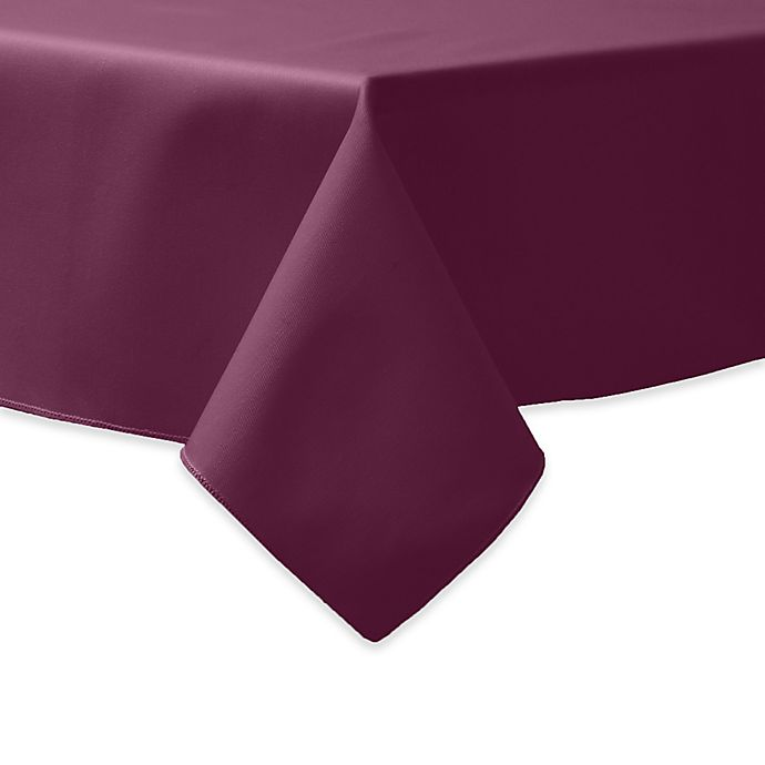 Alternate image 1 for 90-Inch Square Indoor/Outdoor Twill Tablecloth in Burgundy