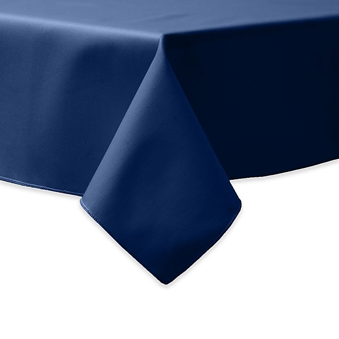 Alternate image 1 for 90-Inch Square Indoor/Outdoor Twill Tablecloth in Navy