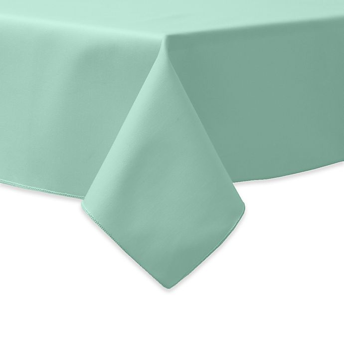 Alternate image 1 for 90-Inch Square Indoor/Outdoor Twill Tablecloth in Seamist