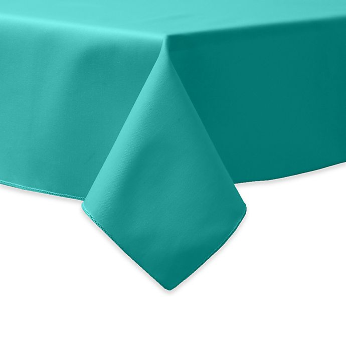 Alternate image 1 for 90-Inch Square Indoor/Outdoor Twill Tablecloth in Jade