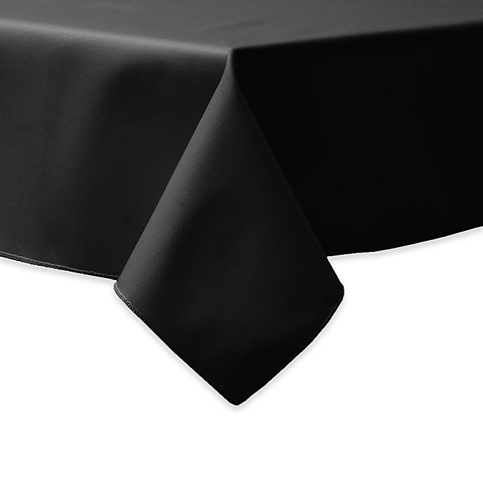 Alternate image 1 for 90-Inch Square Indoor/Outdoor Twill Tablecloth in Black