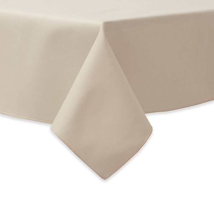 Alternate image 1 for 90-Inch Square Indoor/Outdoor Twill Tablecloth in Beige
