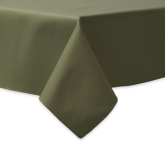 Alternate image 1 for 90-Inch Square Indoor/Outdoor Twill Tablecloth in Olive