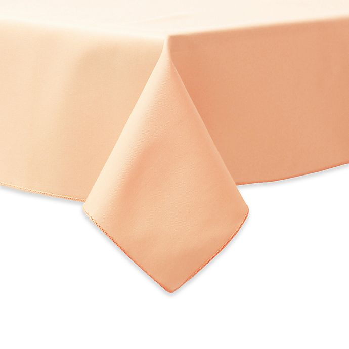 Alternate image 1 for 90-Inch Square Indoor/Outdoor Twill Tablecloth in Peach