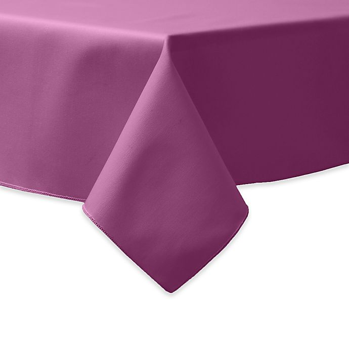 Alternate image 1 for 90-Inch Square Indoor/Outdoor Twill Tablecloth in Plumberry