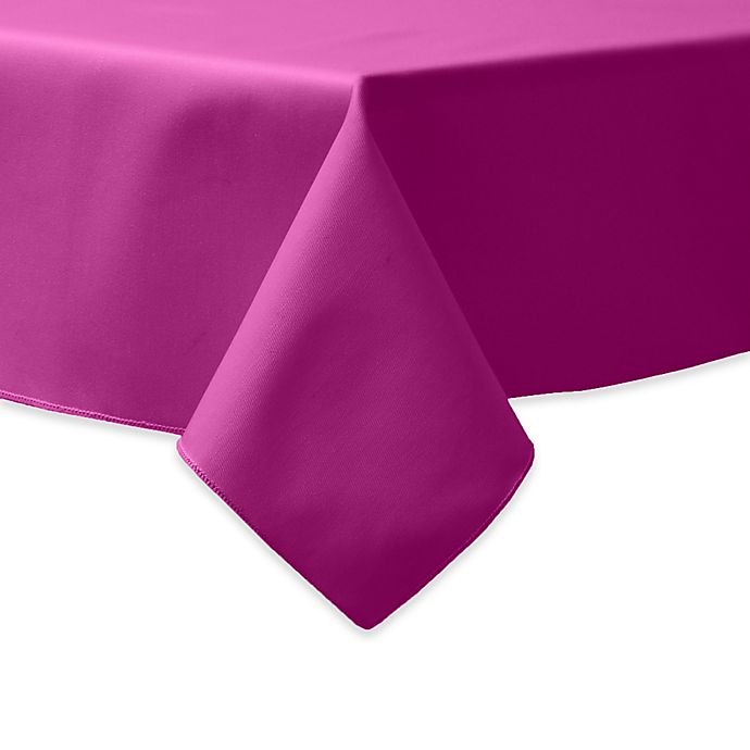 Alternate image 1 for 90-Inch Square Indoor/Outdoor Twill Tablecloth in Raspberry