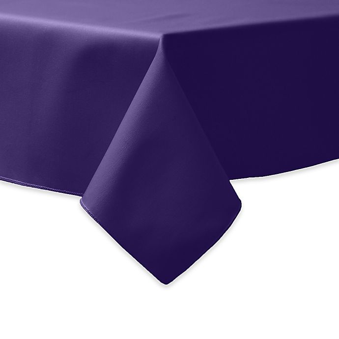 Alternate image 1 for 90-Inch Square Indoor/Outdoor Twill Tablecloth in Purple
