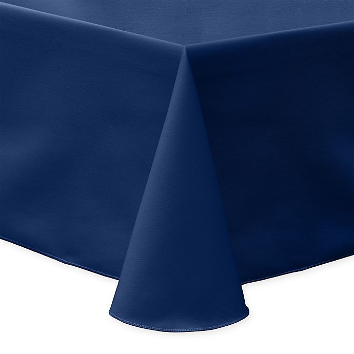 Alternate image 1 for 60-Inch x 90-Inch Oblong Indoor/Outdoor Twill Tablecloth in Navy