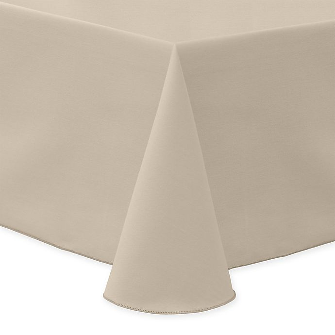 Alternate image 1 for 60-Inch x 90-Inch Oblong Indoor/Outdoor Twill Tablecloth in Beige