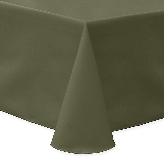 Alternate image 1 for 60-Inch x 90-Inch Oblong Indoor/Outdoor Twill Tablecloth in Olive