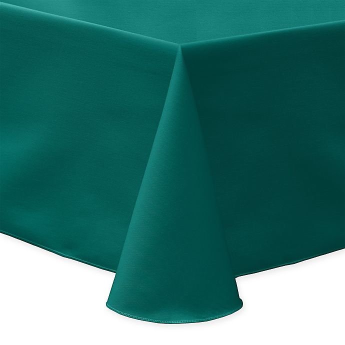 Alternate image 1 for 60-Inch x 120-Inch Oblong Indoor/Outdoor Twill Tablecloth in Teal