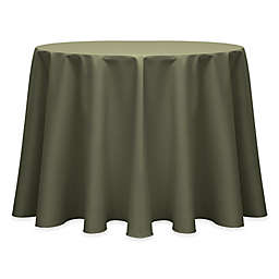 Ultimate Textile Twill 90-Inch Round Tablecloth in Olive